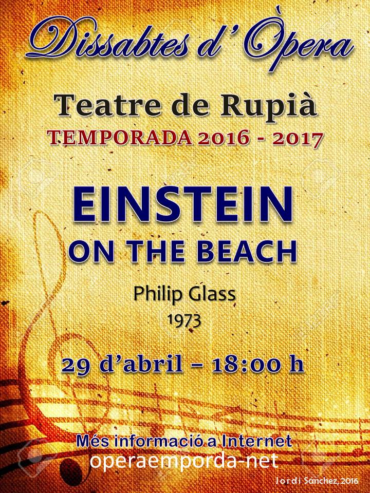 EINSTEIN ON THE BEACH. 2016-2017